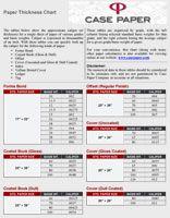 Average Caliper Chart Paper Chart Calipers
