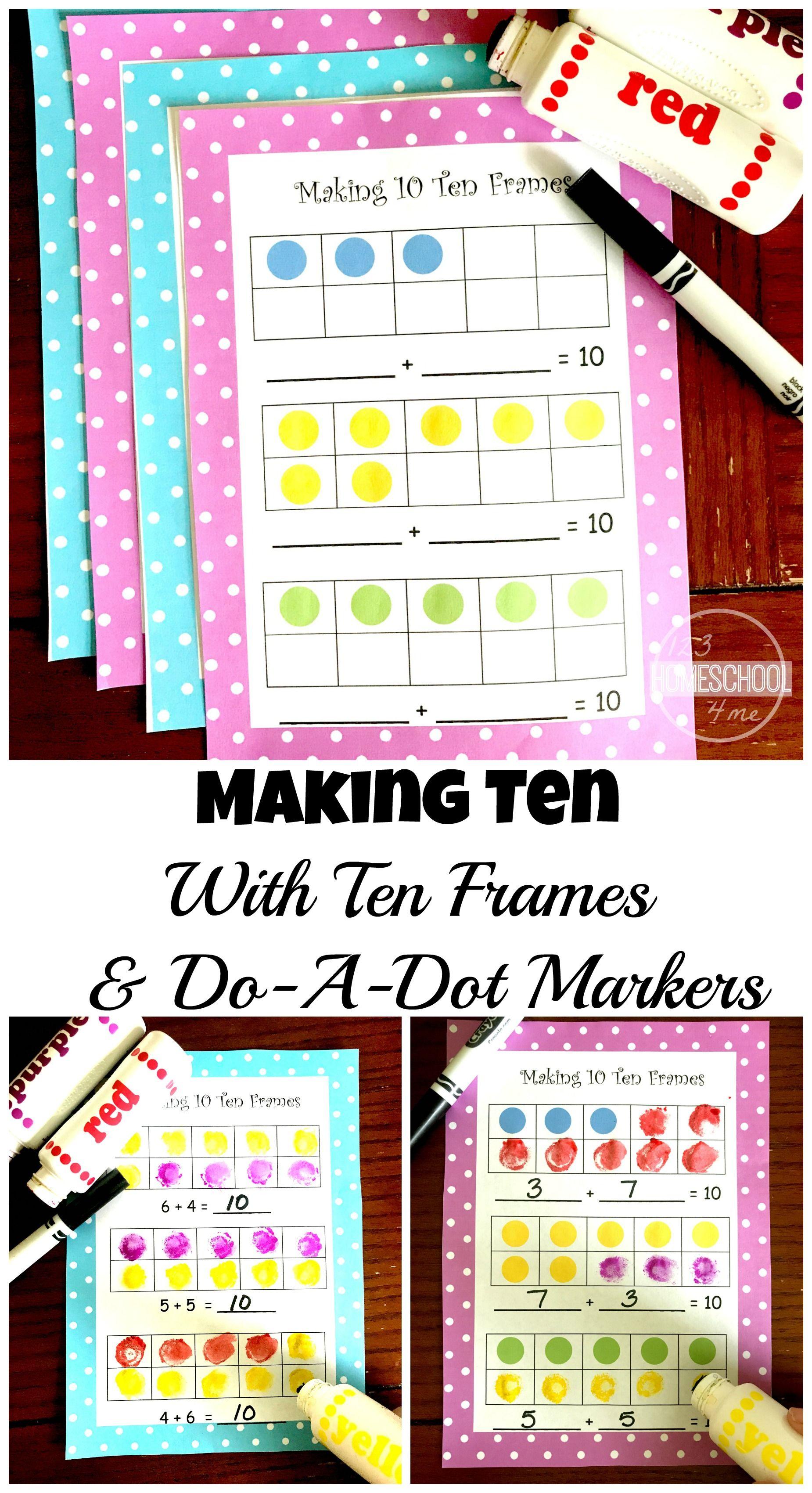 FREE Making 10 Ten Frames | Pinterest | Ten frames, Worksheets and ...