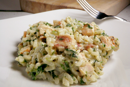 Recipe Chicken risotto with goat cheese & spinach, by SomethingSavory - Petitchef