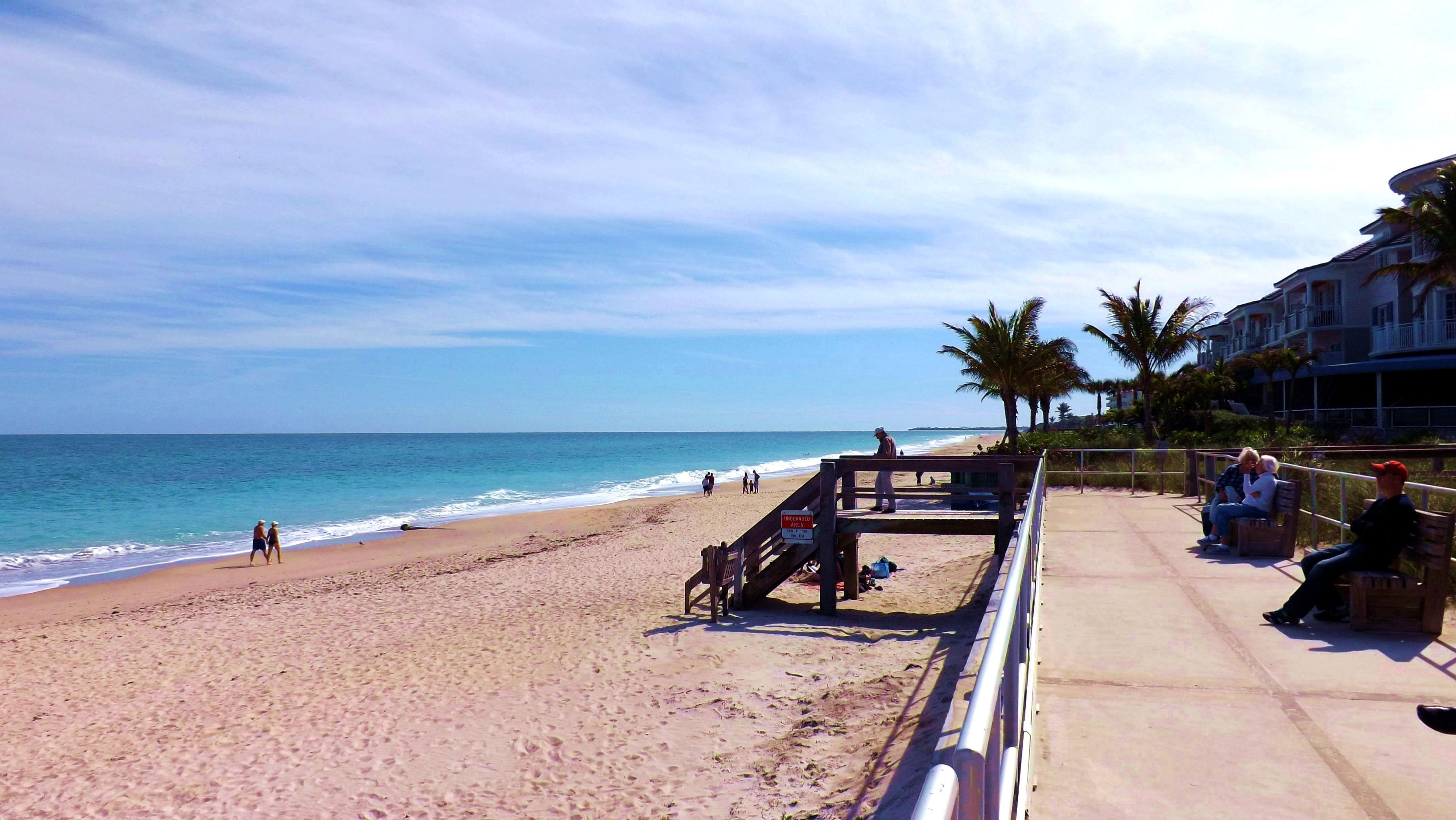 Ocean Drive Beach Boardwalk In Vero Beach Fl Treasure