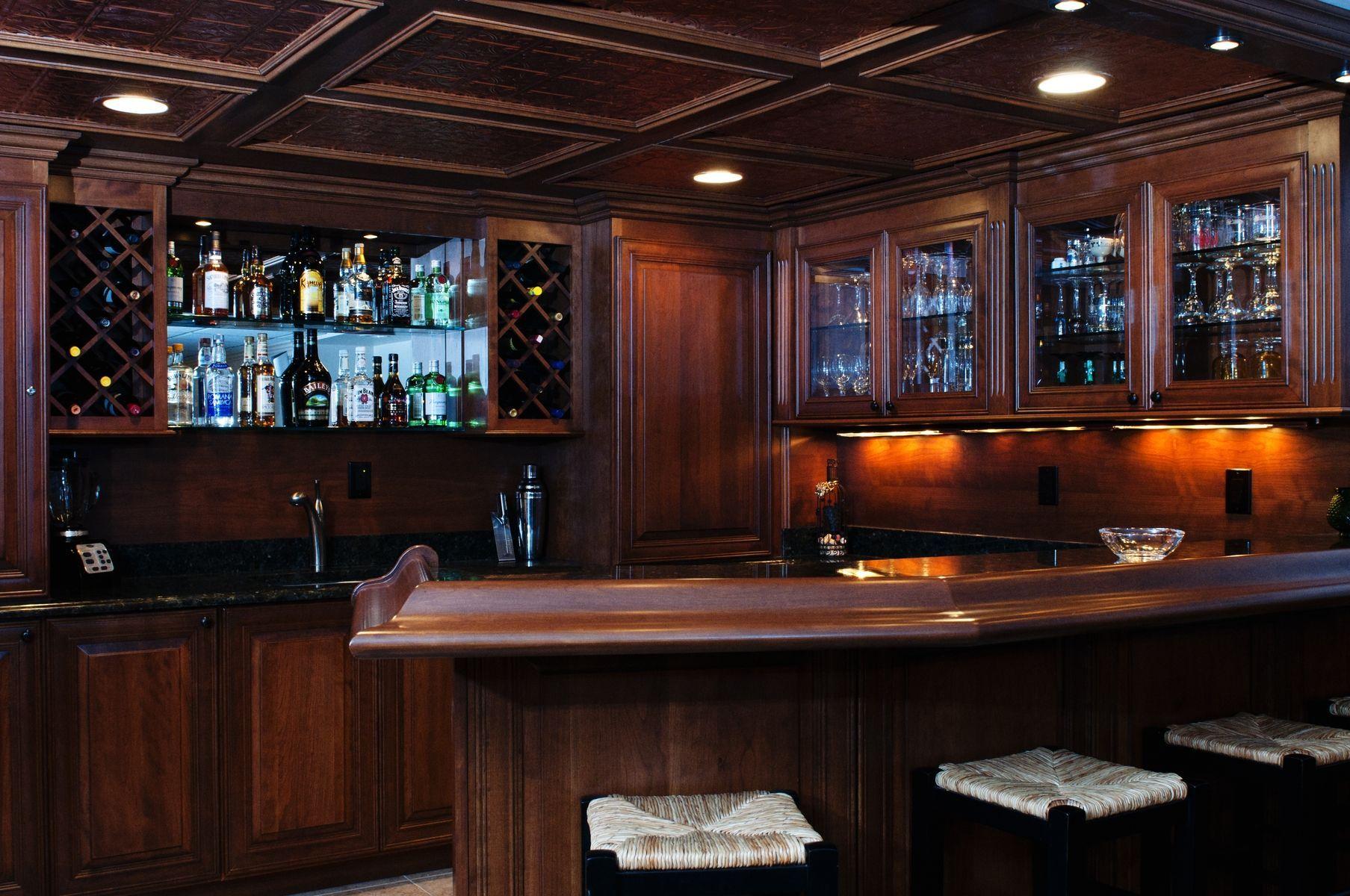 Basement Kitchen Bar   home garden kitchen bar bar wine built in ...