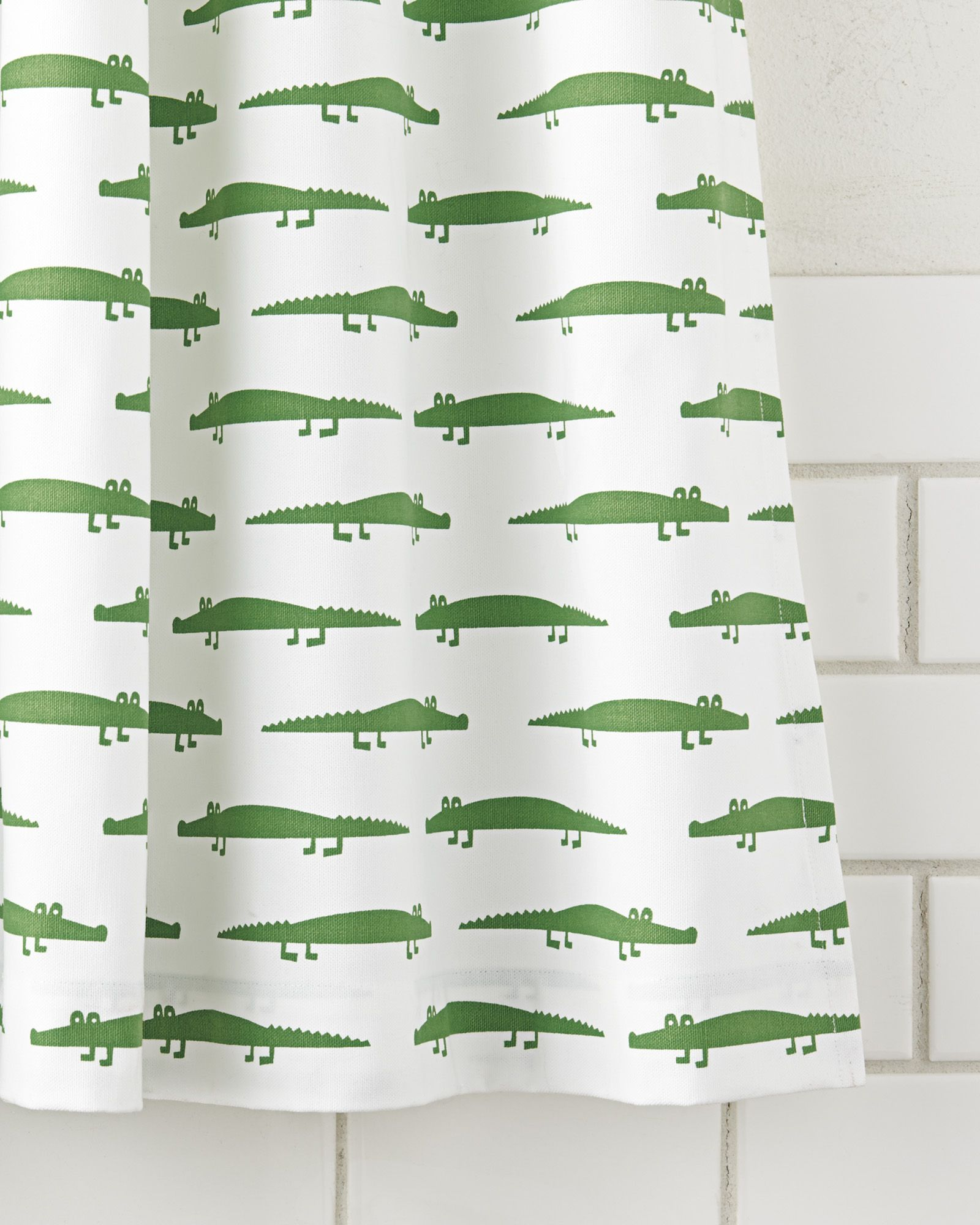 Our Friendly Little Alligator Pops In Kelly Green On Bright White