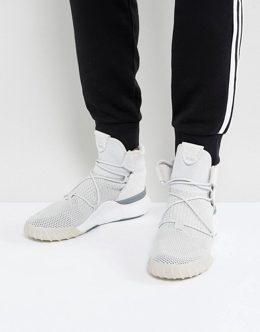f088b14b4ef4 ADIDAS ORIGINALS TUBULAR X 2.0 PRIMEKNIT SNEAKERS IN GRAY CQ1375 - GRAY.   adidasoriginals  shoes