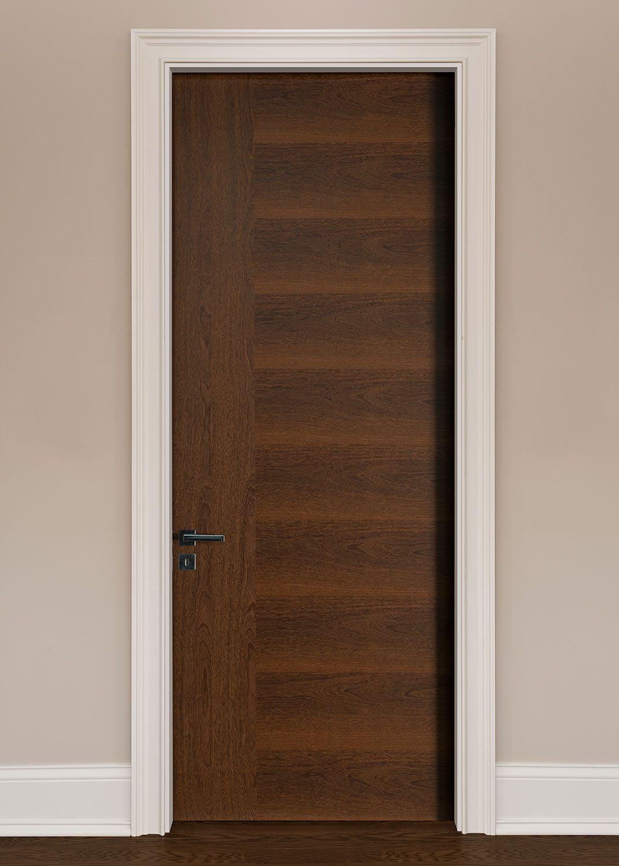Modern Interior Door   Custom   Single   Wood Veneer Solid Core Wood With  Natural