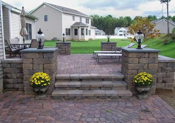 Stone Patio Design Ideas irregular flagstone patio crazy paving flagstone smalls landscaping inc valparaiso Paver Patio Is Popular Nowadays And Paver Patio Design Ideas Will Include A Few Aspects To