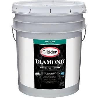 Glidden Diamond 5 Gal Pure White Eggshell Interior Paint And Primer Tintable Glidden Premium Exterior Paint Interior Paint