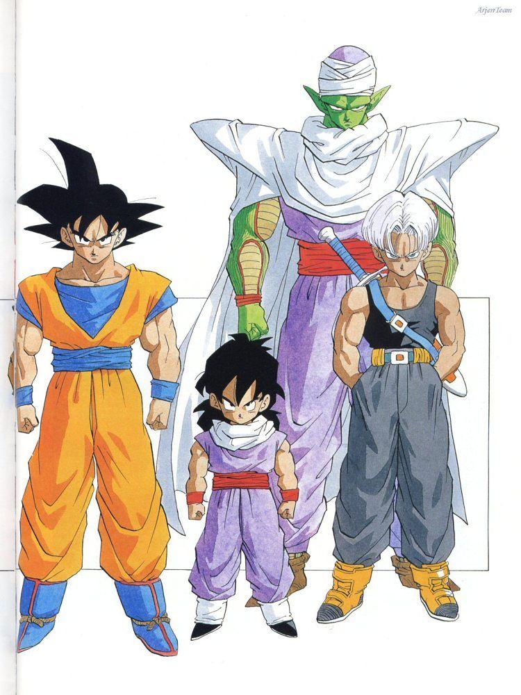 Goku, Gohan, Piccolo and Future Trunks #DBZ | Dragon ball ...