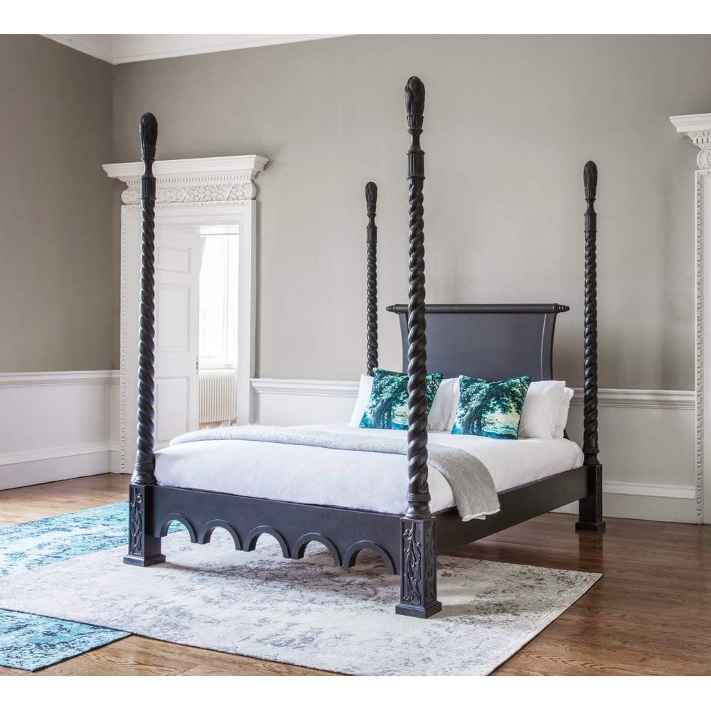 Sassy Boo Boudoir Majestic Four Poster Black Bed | Beds ...