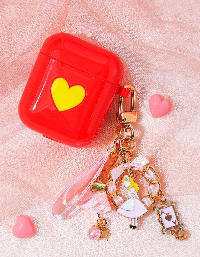 best service c5fe7 542e6 AirPod Case Keychain / Heart AirPods Case / Silicone AirPod Keychain ...