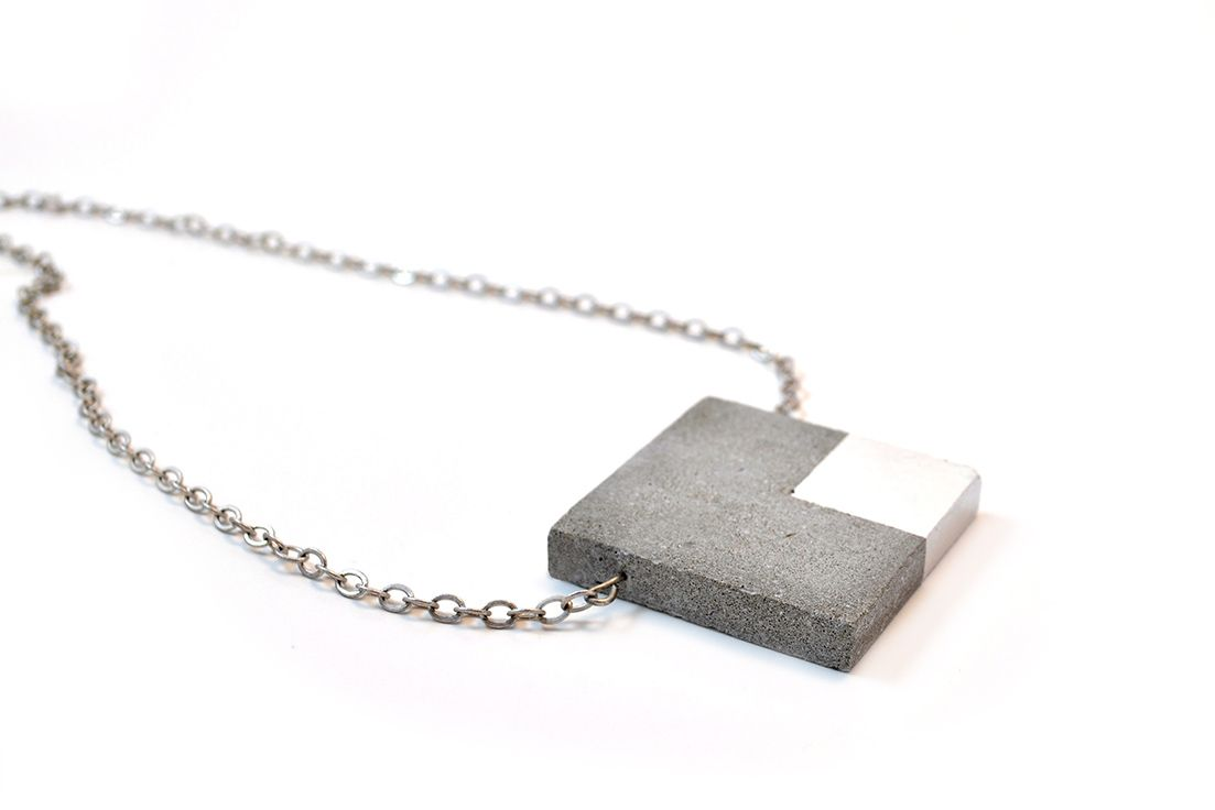 Pin By Sayoh Mansaray On Cute Wearables Concrete Necklace Concrete Jewelry Architectural Necklace