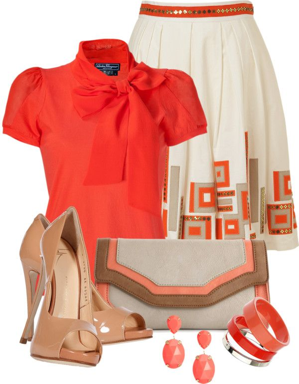 Oranžovo-biela