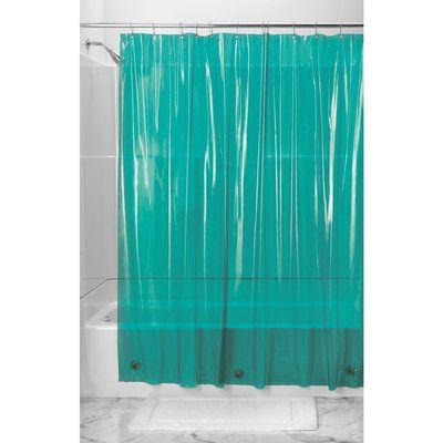 Interdesign Shower Curtain Liner Color Deep Teal Vinyl Shower