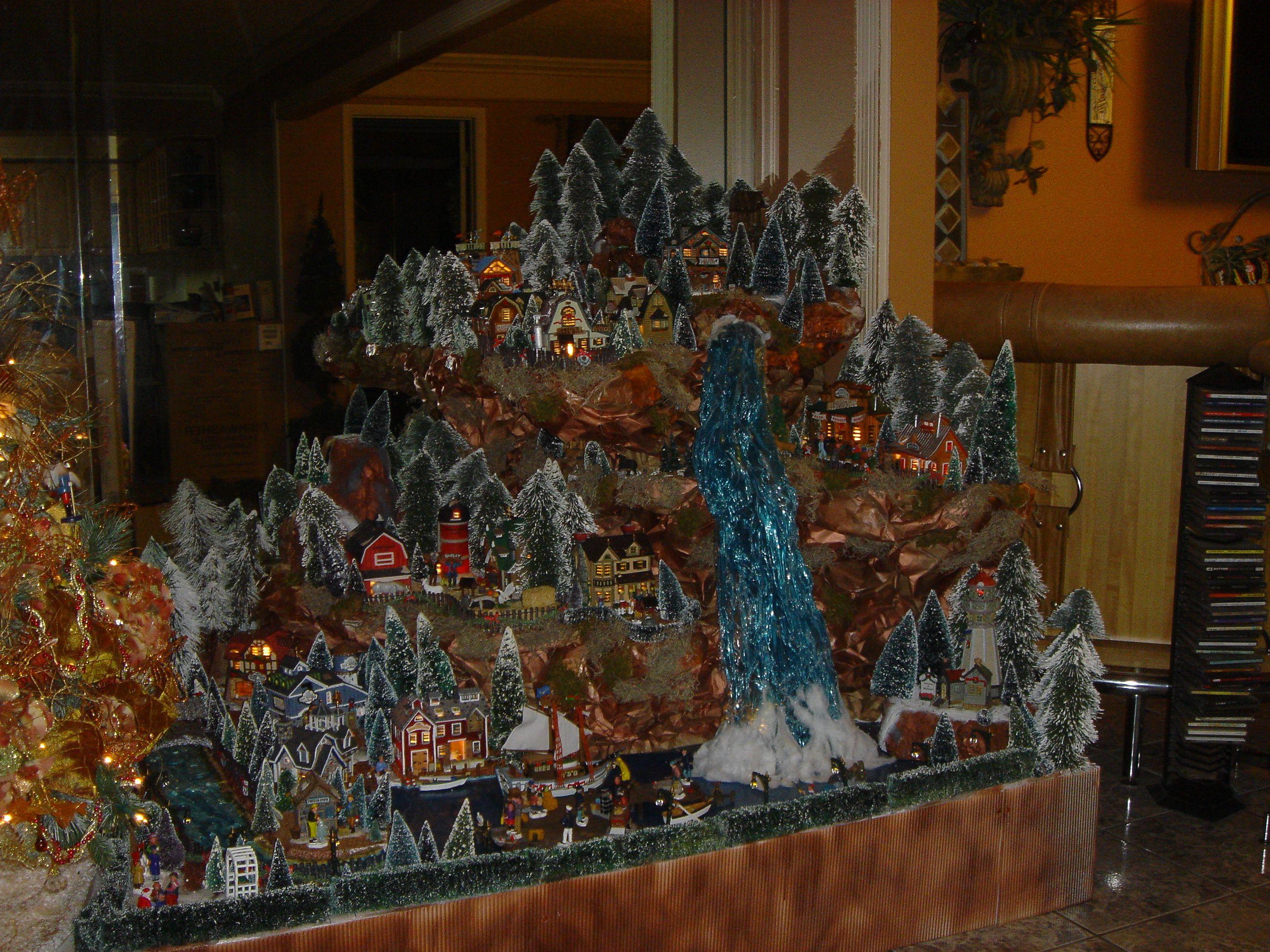Large Christmas Village Display