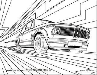 '73 BMW 2002 Turbo coloring page Download. Signup for