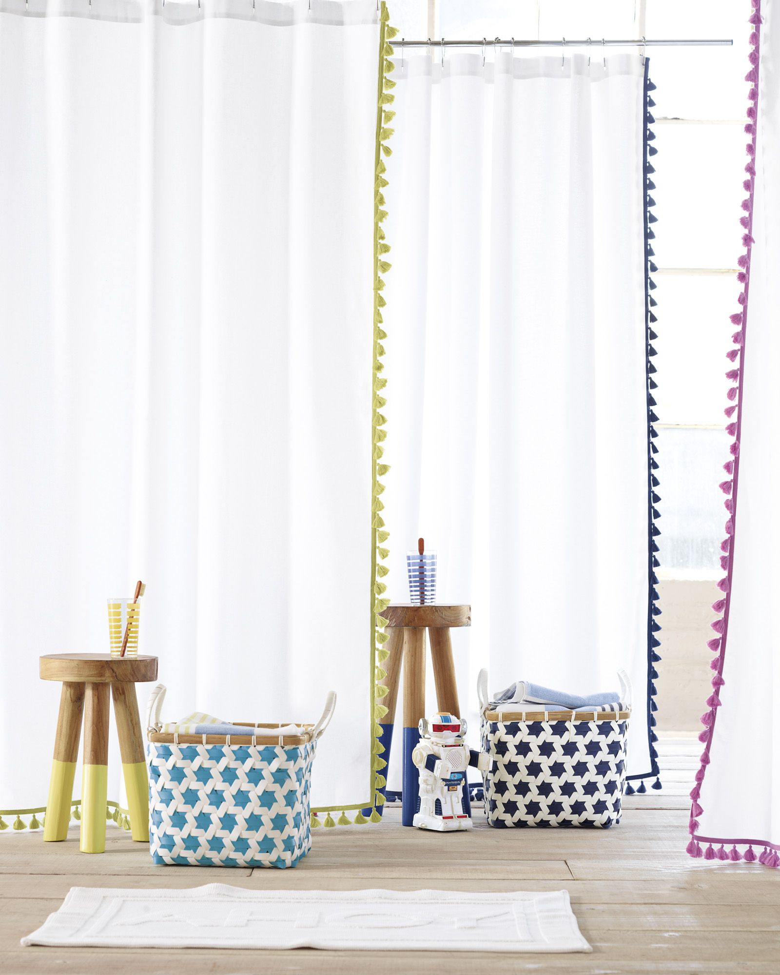 Shop The French Tassel Shower Curtain And Rest Of Our Designer Curtains At Serena Lily