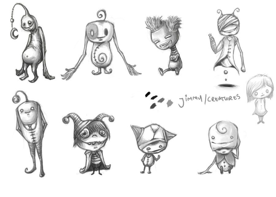 Character Design Ratatouille : Range of characters exploring possibility for jimmy game