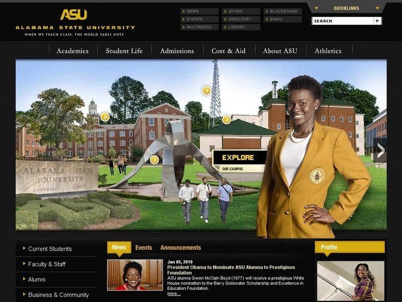Alabama State University Founded 1867 Is A Historically Black
