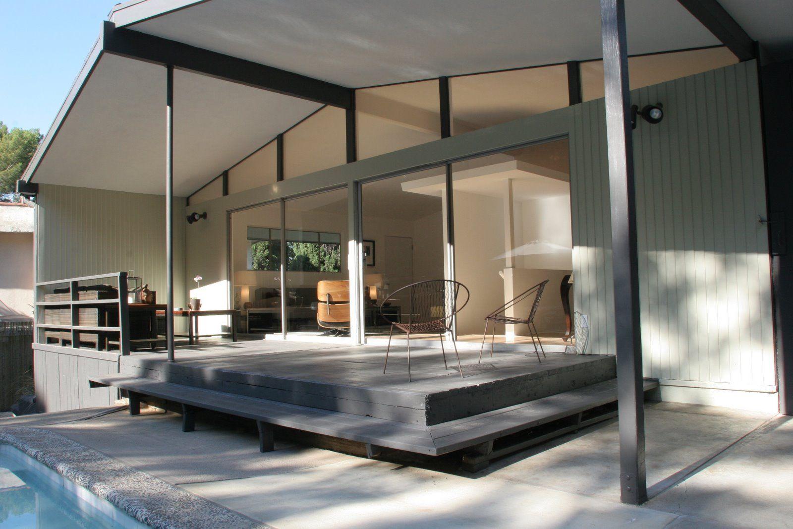Mid century modern kitchens mid century modern outdoor fireplace