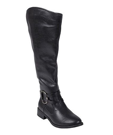 Look what I found on #zulily! Black Charming Wide-Calf Boot #zulilyfinds