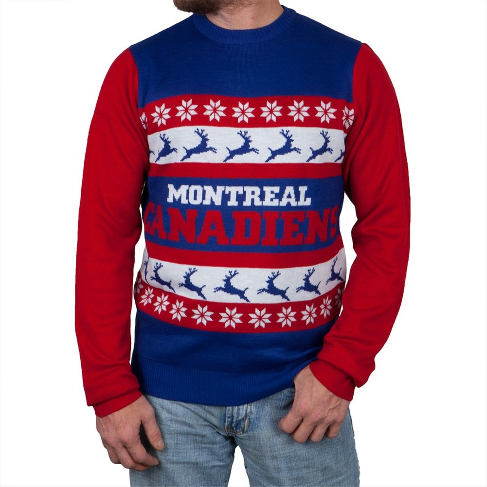 brand new f7c9f b1f04 Montreal Canadiens - One Too Many Ugly Christmas Sweater ...