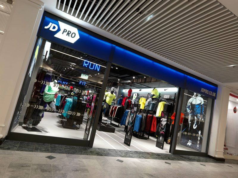 JD Pro Fashion retail interior, Retail interior