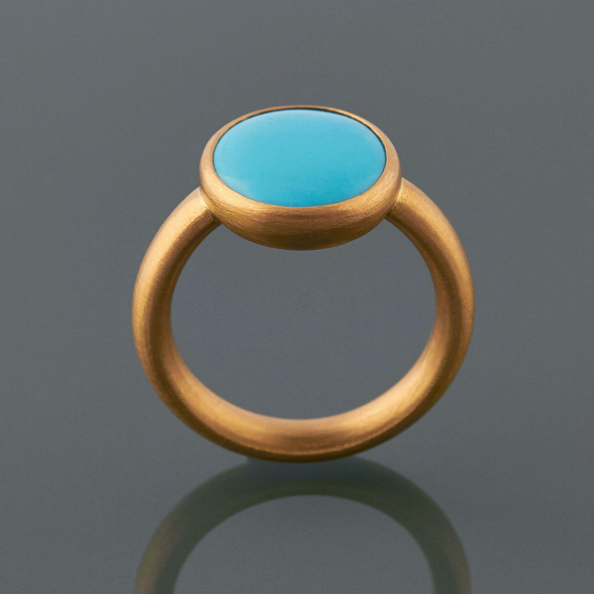 Turquoise Ring In 22ct Gold by Deborah Cadby httpwww