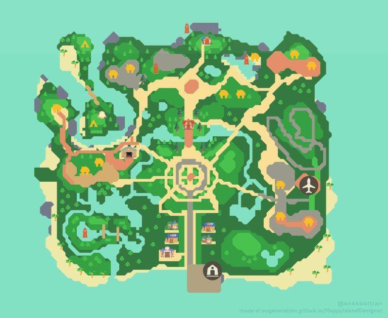 Animal Crossing New Horizons Map Design Ideas Crossingcharm Animal Crossing Animal Crossing Villagers New Animal Crossing