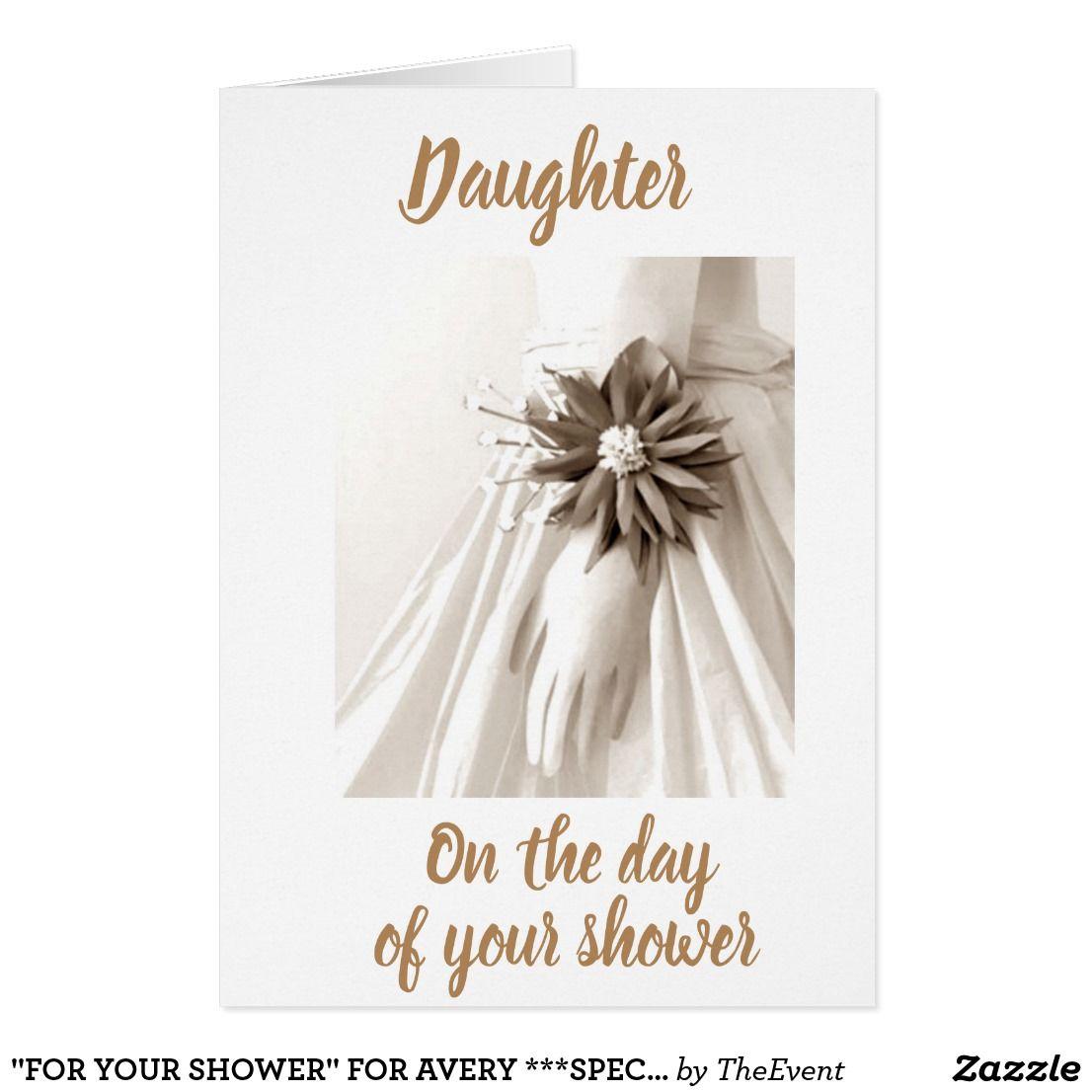 Bridal Shower Card Message For Daughter References