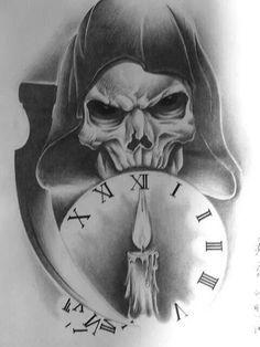 1337a085d6a5d grim reaper holding hourglass - Google Search | tattoos | Reaper ...