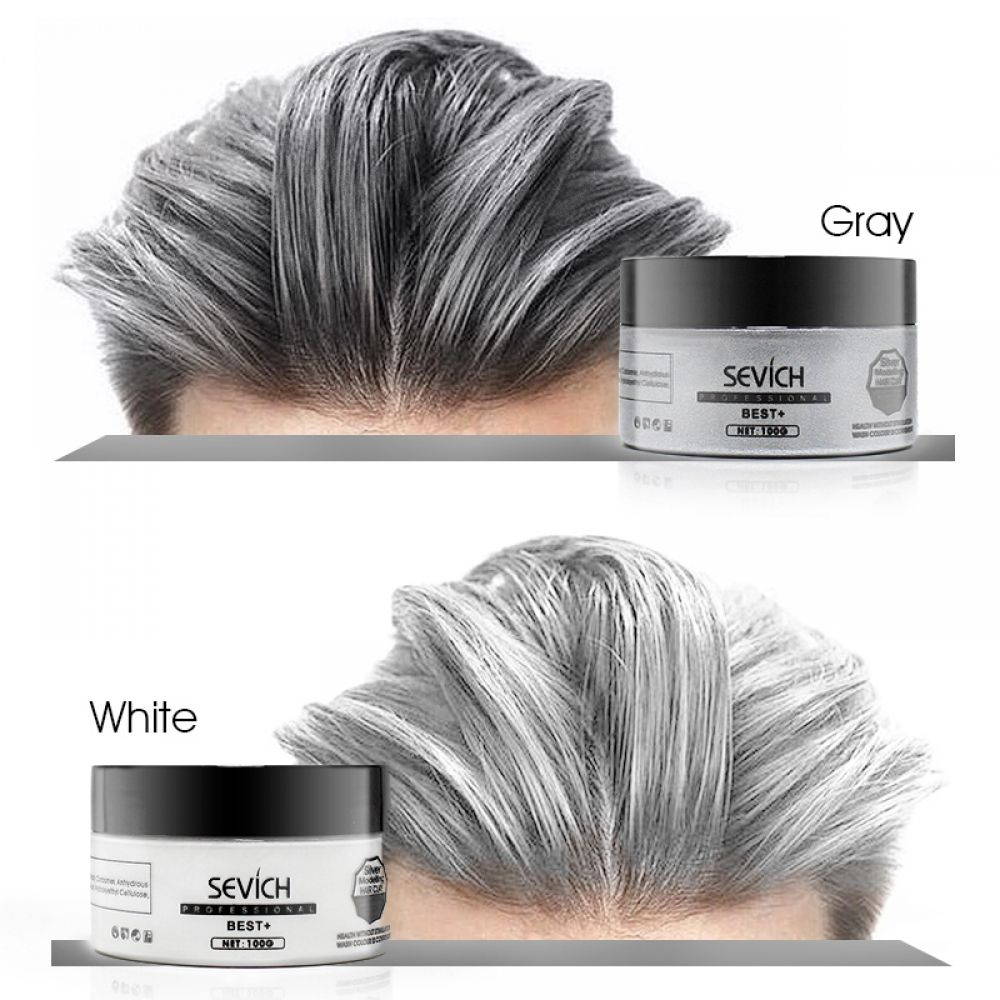 Sevich Hair Color Wax Hair Dye Permanent Hair Colors Cream Unisex Strong Hold Grandma Grey Disposable Pastel Dynamic Hairstyles Temporary Hair Dye Grey Hair Dye Temporary Hair Color