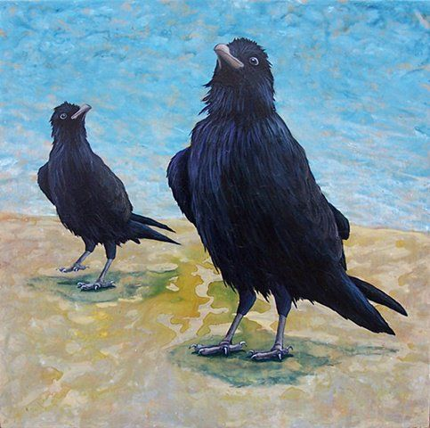"""""""Two Ravens #2"""" by Lindsay Nygaard"""