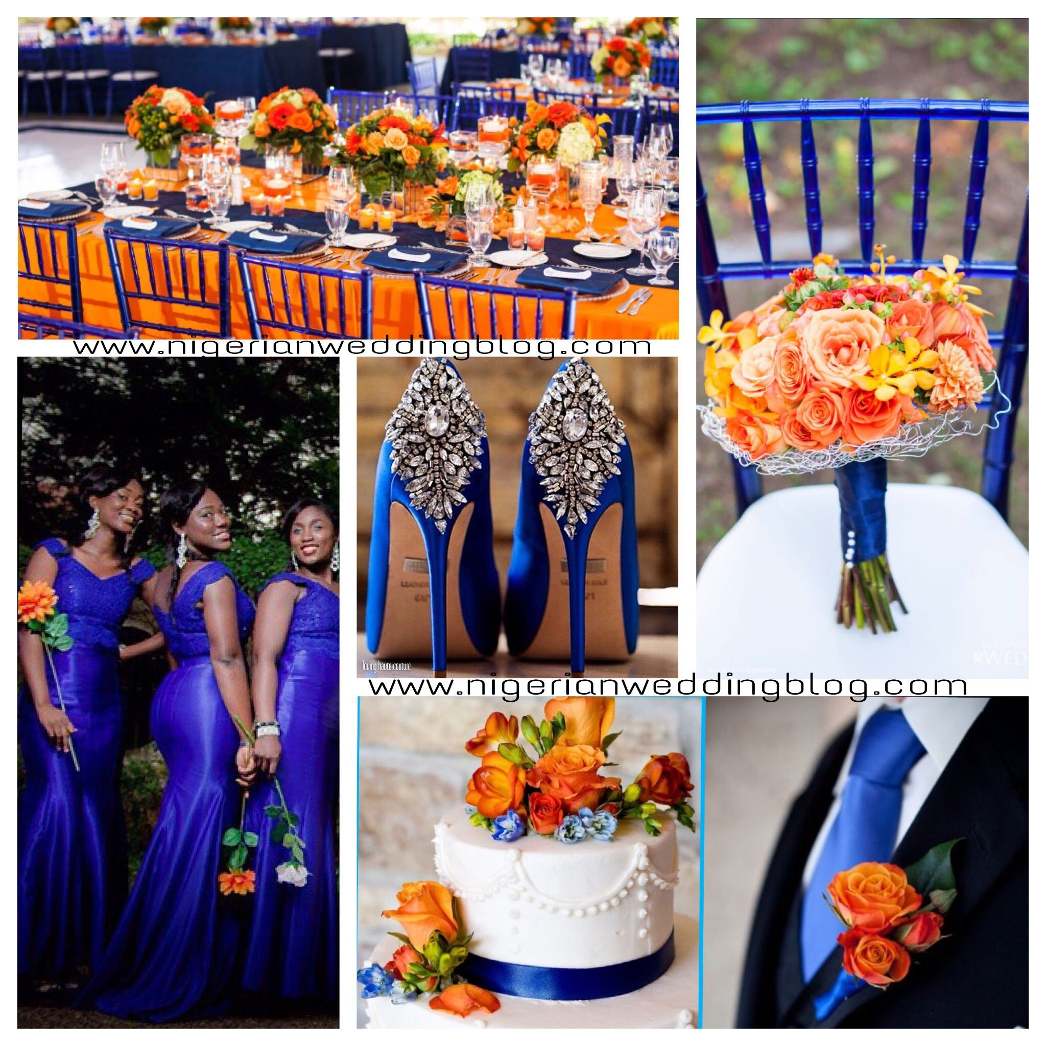 Blue Wedding Colors Nigerian Royal Orange Color Sceheme