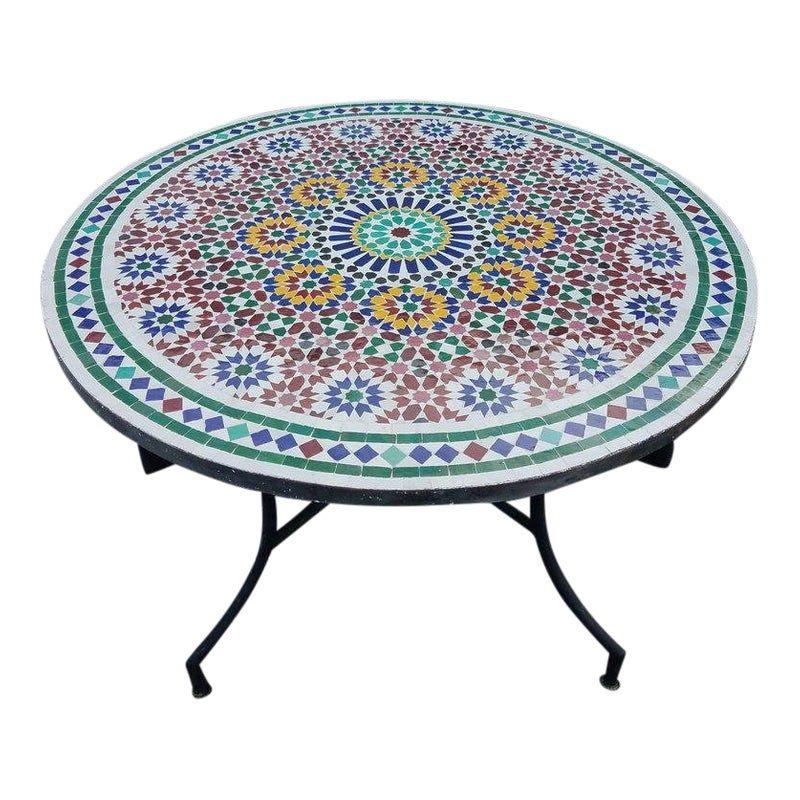 Moroccan MultiColor Mosaic Coffee Table Mosaic coffee