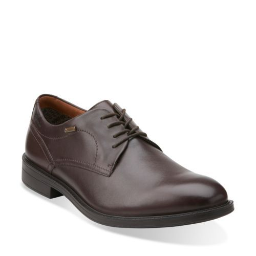 Chilver Walk GTX Dark Brown Lea - Clarks Mens Shoes - Lace-ups and Slip
