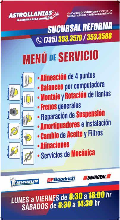 Menu servicios