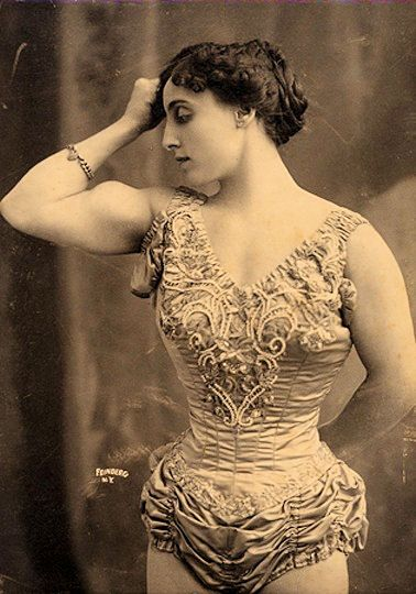circus strong woman vintage clip art and photography