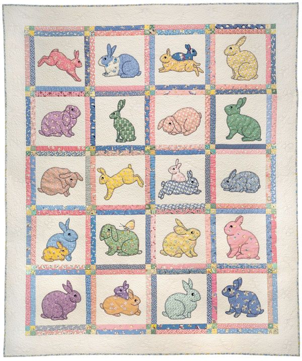 Bunnies In 1930 S Fabrics Bunny Quilt Book Quilt Quilts