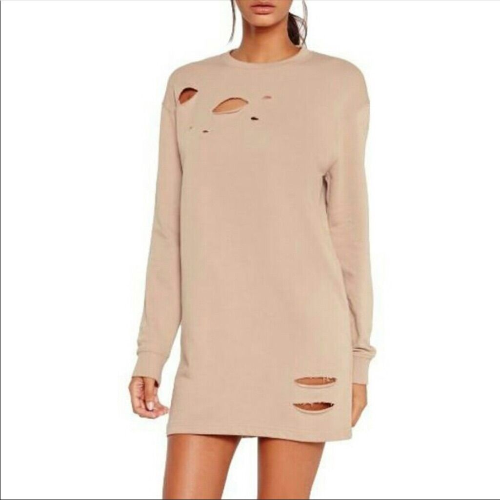 Asos Nwt Ripped Oversized Sweater Dress | Products