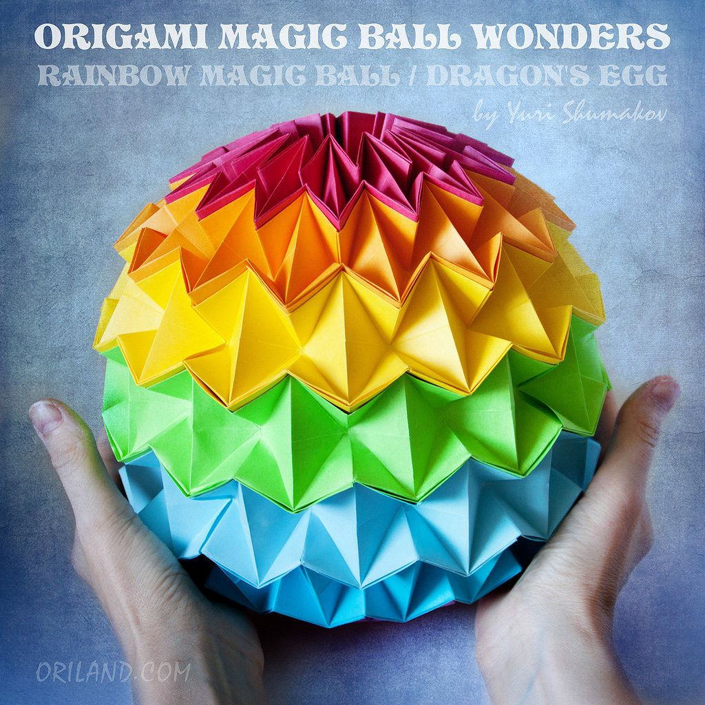 A Teaser From The Upcoming Book Origami Magic Ball Wonders Rainbow Dragons Egg Designed By Yuri Is Dazzling Modular You Will Love To