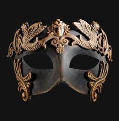 Colombina Barocco Grifone Bronze Venetian Mask | Accessoires ...
