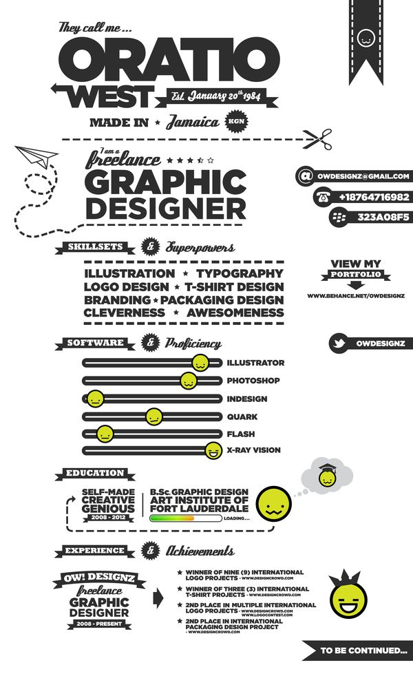 Examples of Creative Graphic Design Resumes Infographics 2012 - graphic designer resume examples