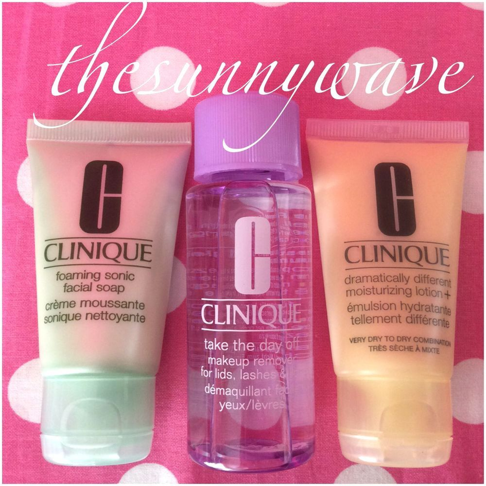NEW! CLINIQUE 3 STEP TRAVEL SET SKINCARE KIT soap/makeup