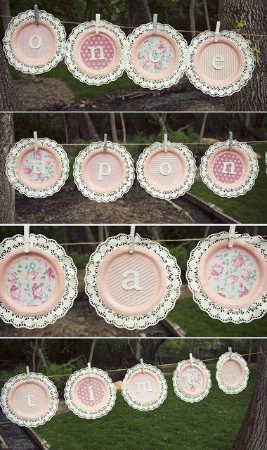 más y más manualidades: Bellas decoraciones de fiestas usando platos desechables