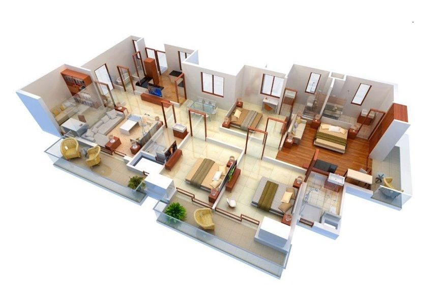 House Plans With Four Bed Rooms