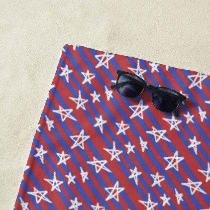 Stars On Stripes Beach Towel Zazzle Com Red Style White