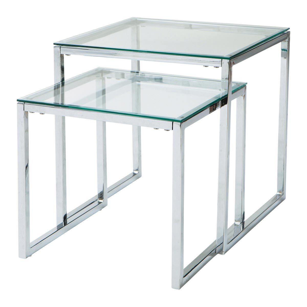 Satzcouchtische aus Glas und Metall, B 40 cm/45 cm Lexington Jetzt ...