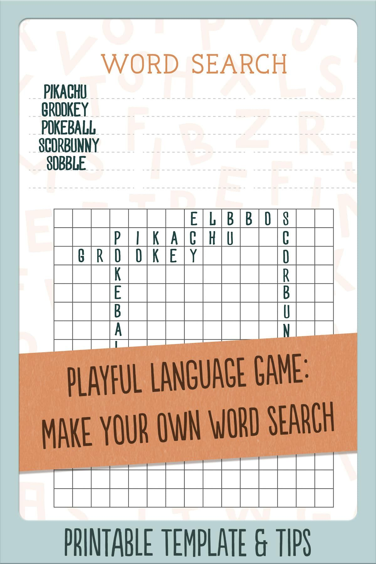 Freebie Blank Word Search Grids Downloadable Printable Blank Grids For Kids To Engage Their Creativity Kids Fun Learning Language Curriculum Grid Puzzles