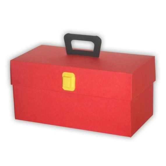 Items similar to 5 Small Toolbox Favor Boxes on Etsy