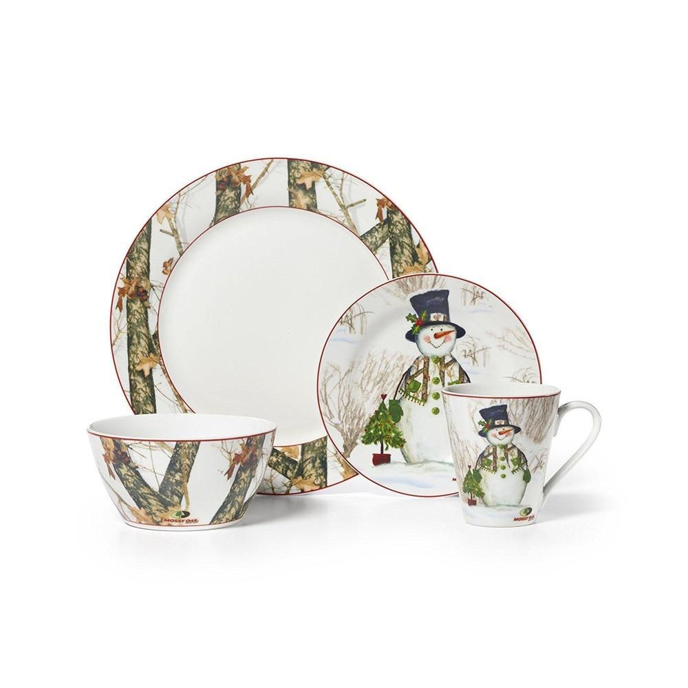 Christmas Dinnerware Set 16pcs Holiday Dinner Plates Bowl Mug Holiday Snowman  sc 1 st  Pinterest : holiday dinner plates - pezcame.com