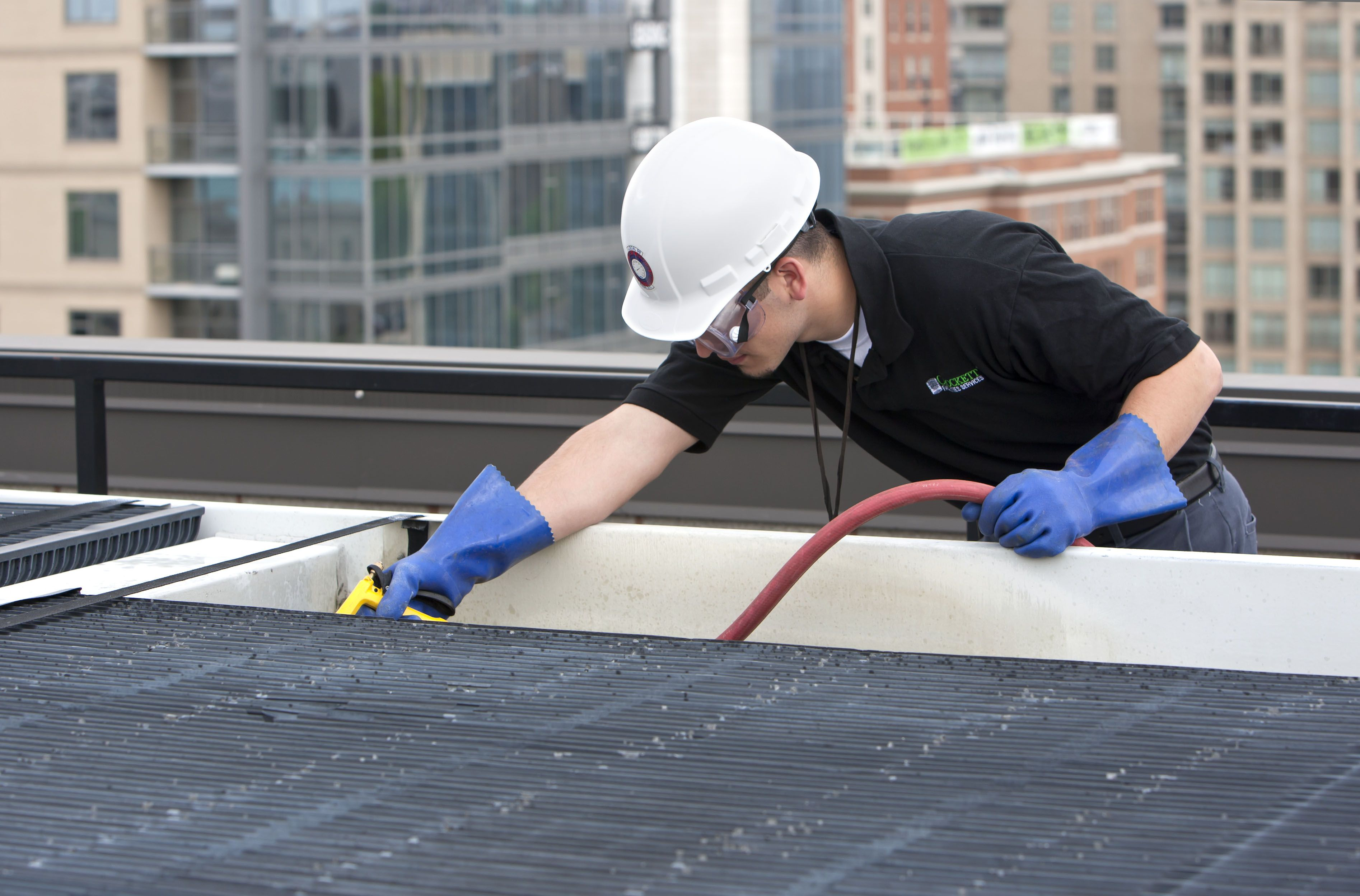 Cleaning cooling tower distribution deck A Critical Part
